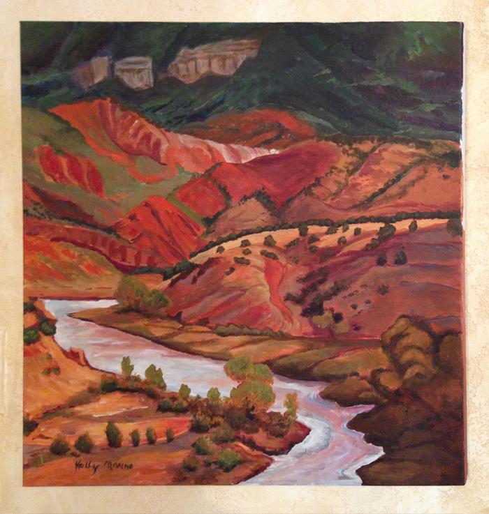 New Mexico Landscape acyrlic on canvas by Holly Marino